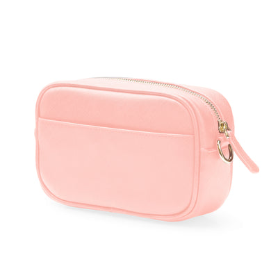 Crossbody Bag - Pale Pink Saffiano Leather