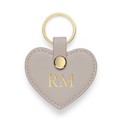 Heart Keyring - Grey