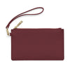 Medium Leather Clutch - Burgandy