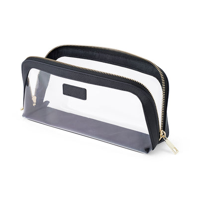 Clear Cosmetic Bag - Black