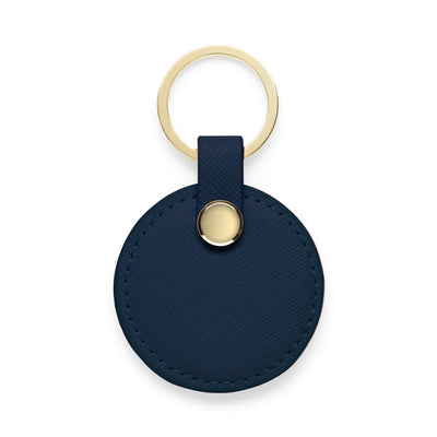 Circle Keyring - Navy