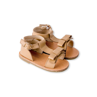 Bow Sandal - Smooth Tan