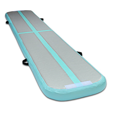 Slim Inflatable Air Mat Mint and Grey