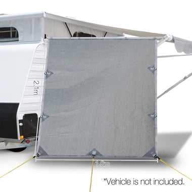 Caravan Roll Out Awning Pop Top End Wall - Grey | Retail Discount