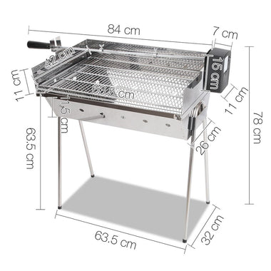 Portable Electric Spit Roaster & Rotisserie - RetailDiscount.com.au