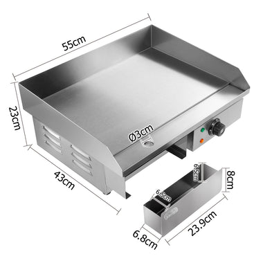 Commercial Electric Griddle BBQ | Retail Discount