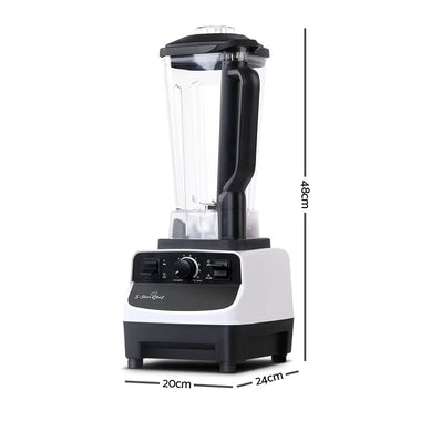 5 Star Chef Commercial Food Processor Blender - White