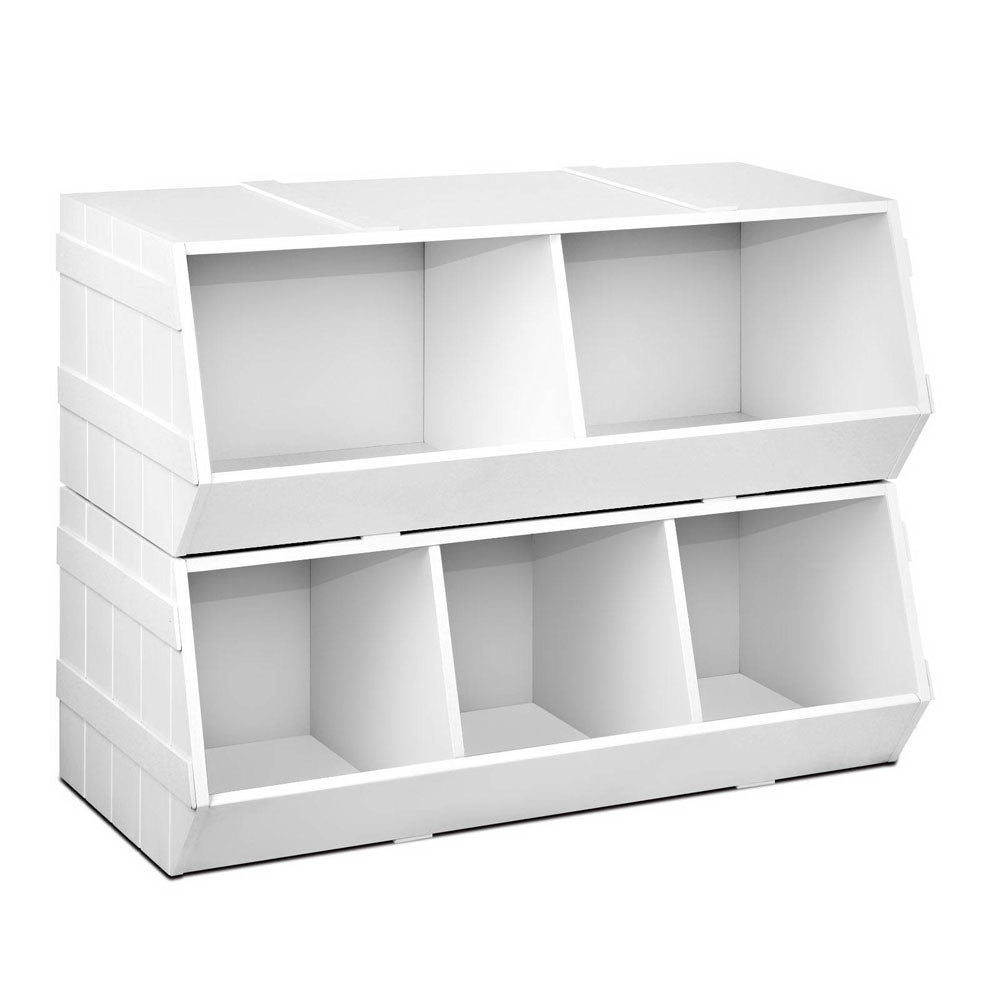 Kids Toy Storage Box - White - RetailDiscount.com.au