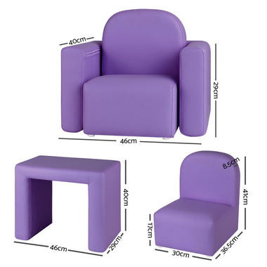 Kids Covertible Armchair - Purple