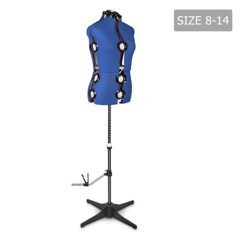 Adjustable Mannequin Cloth Display Tailor Dressmaker Blue