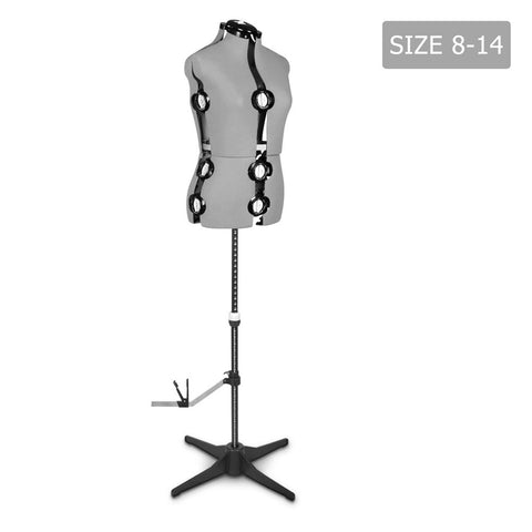 Adjustable Mannequin Cloth Display Tailor Dressmaker Grey