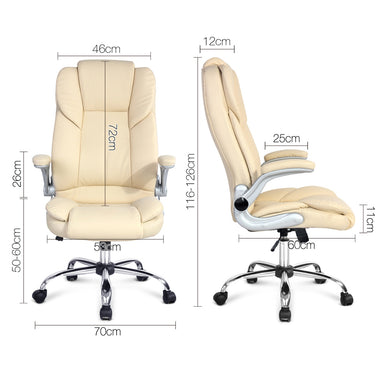 PU Leather Executive Office Chair - Beige