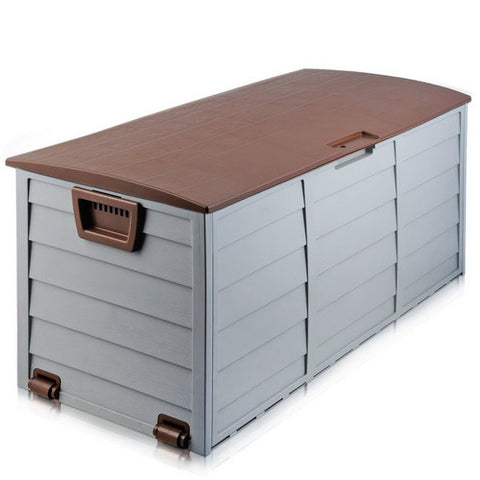 290L Outdoor Storage Box - Brown | Retail Discount