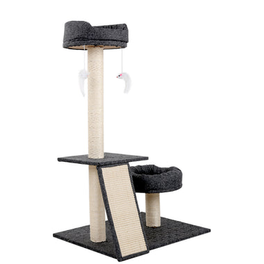 102cm Multi Level Cat Scratching Tree Post - Grey