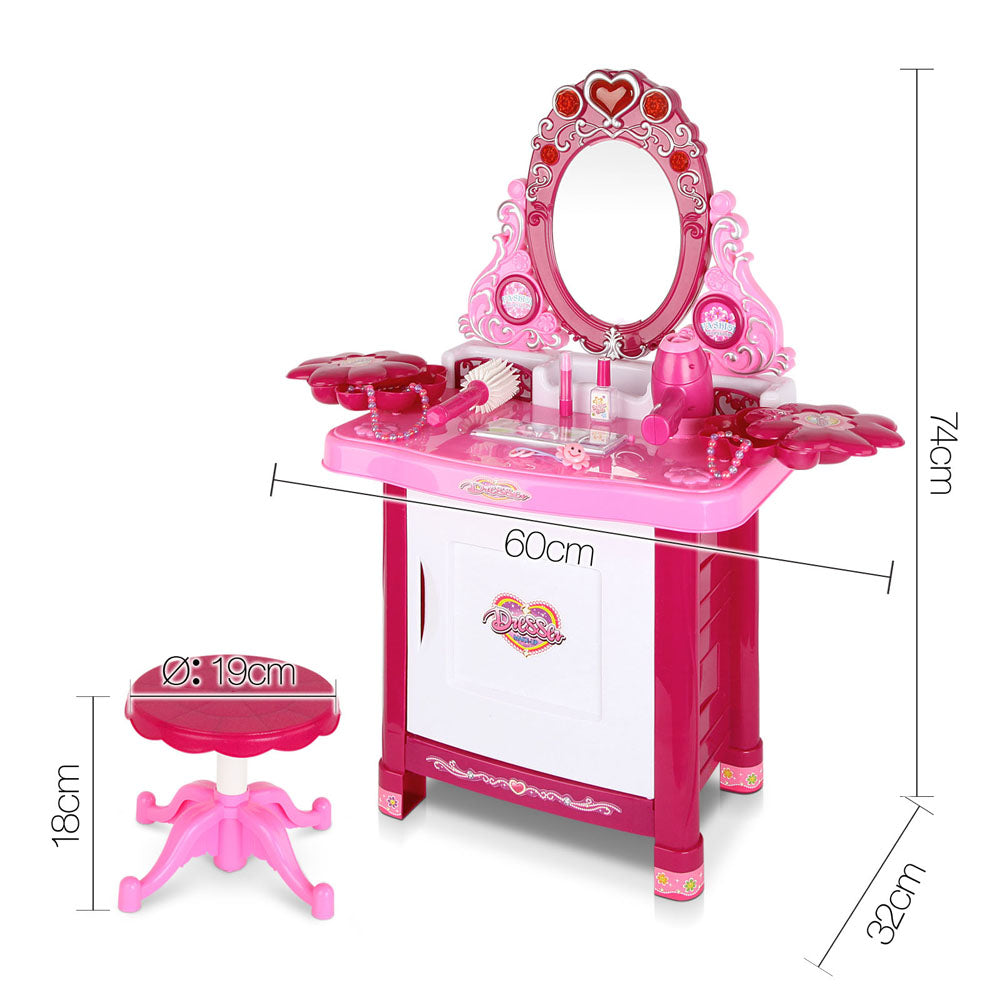 Kids Play Set Make Up Dresser 30 Piece - Pink | Retail Discount
