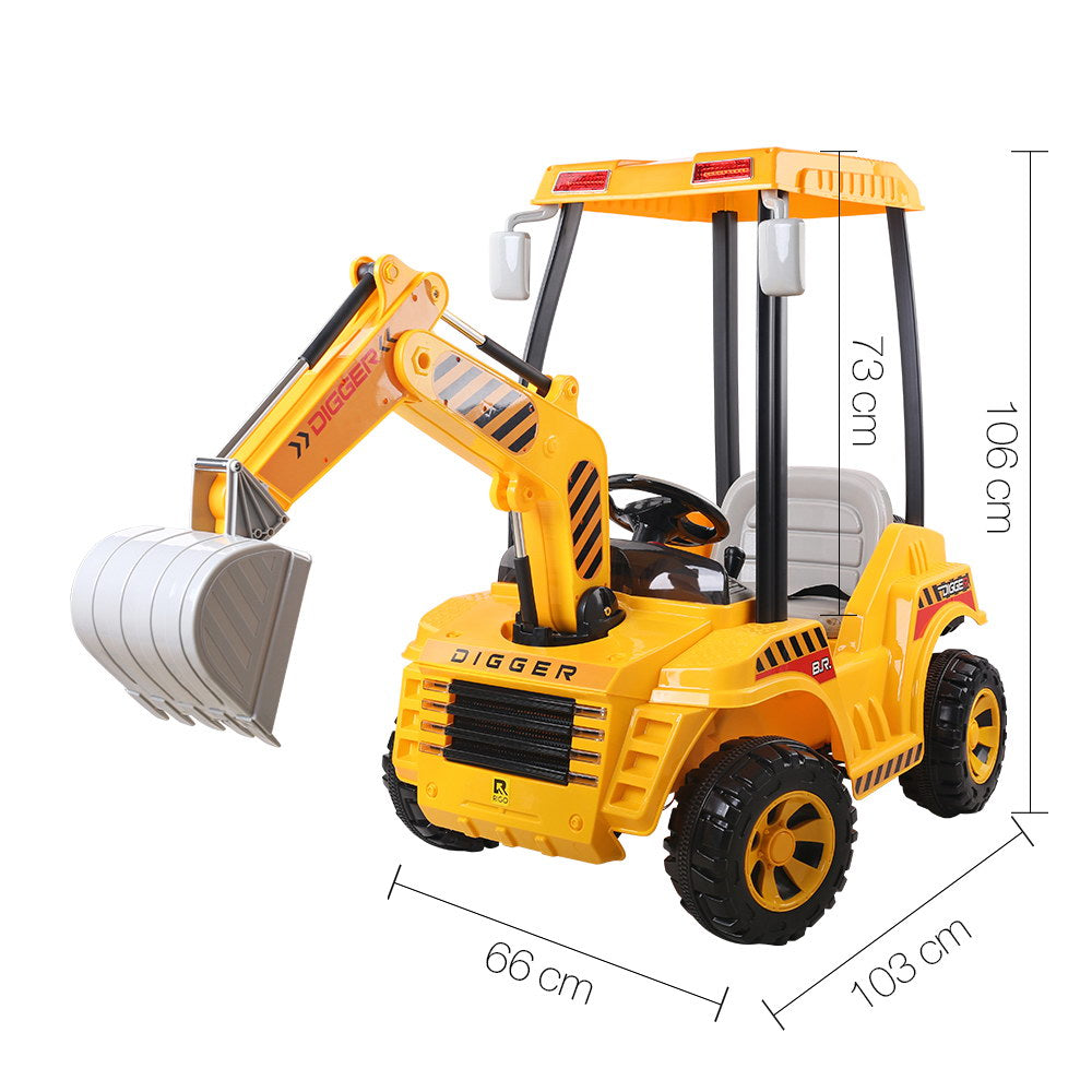Kids Ride On Excavator with Tent | Retail Discount
