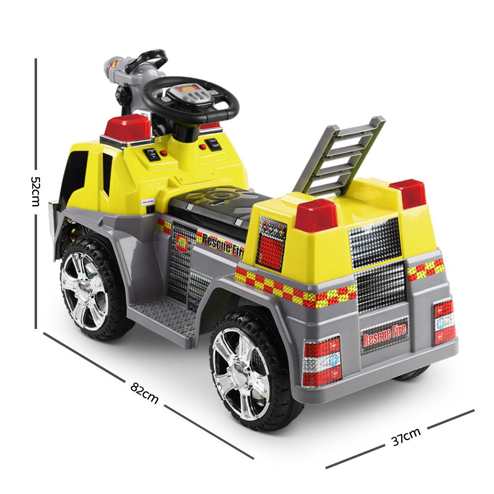 Rigo Kids Ride On Fire Truck Car - Yellow
