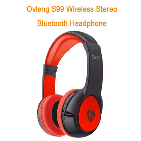 Ovleng S99 Wireless Stereo Bluetooth Headphone (Red/Black)