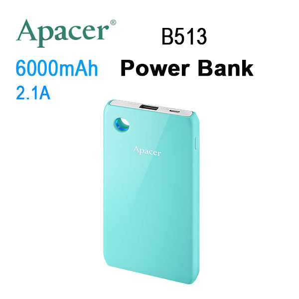 APACER Mobile Power Bank B513 6000mAh Blue