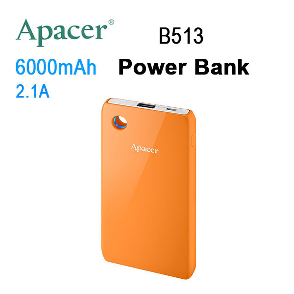 APACER Mobile Power Bank B513 6000mAh Orange