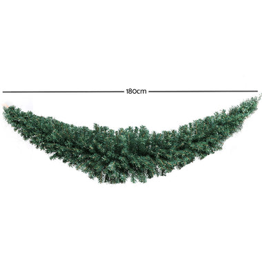 Jingle Jollys 6FT Christmas Garland - Green