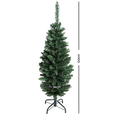 Jingle Jollys 4FT Slim Christmas Tree - Green