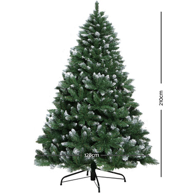Jingle Jollys 7FT Christmas Snow Tree - Green
