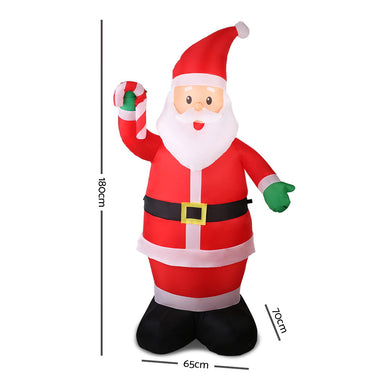 Jingle Jollys 6ft Inflatable Christmas Santa