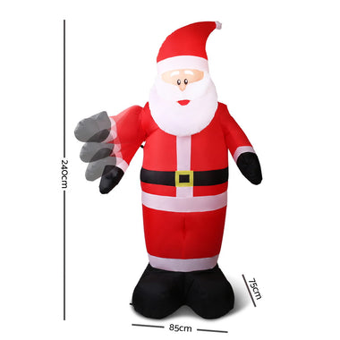 Jingle Jollys 7ft Inflatable Christmas Santa