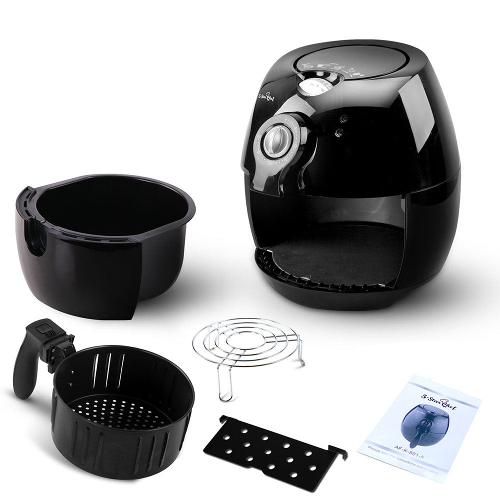 4L Oil Free Deep Cooker - Black | Retail Discount
