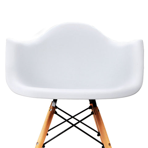 Set of 2 Replica Eames Cafe Chairs Beech White | Retail Discount