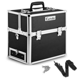 Portable Cosmetic Beauty Carry Case Box Black