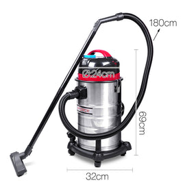 Industrial Commercial Bagless Dry Wet Vacuum Cleaner 30L - Retail Discount