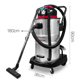 Industrial Commercial Bagless Dry Wet Vacuum Cleaner 60L - Retail Discount