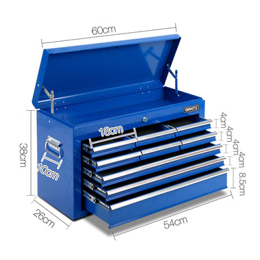9 Drawer Mechanic Tool Box - Blue | Retail Discount