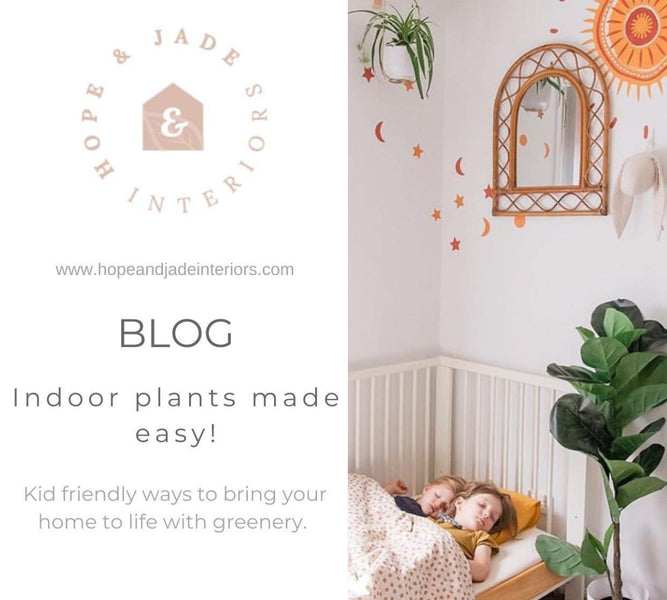 Indoor plants made easy! Kid friendly ways to bring your home to life with greenery.
