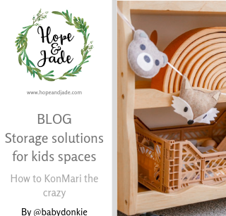Storage solutions for kids spaces: How to KonMari the crazy