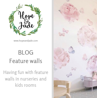 Feature Walls: Have fun with feature walls in nurseries and kids rooms