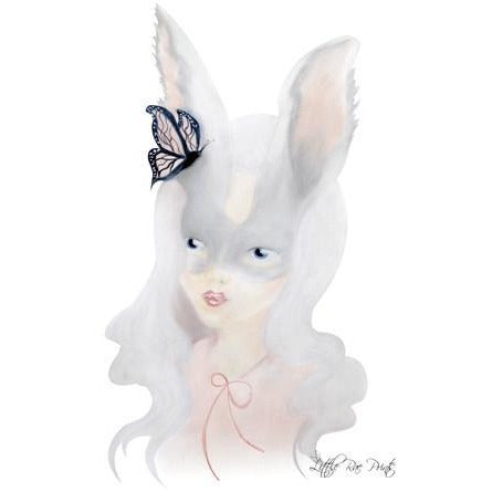 Silver Bunny - Watercolour print