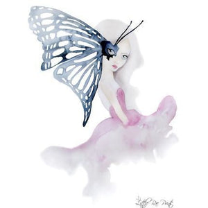 Madame Butterfly - Watercolour print - Hope & Jade
