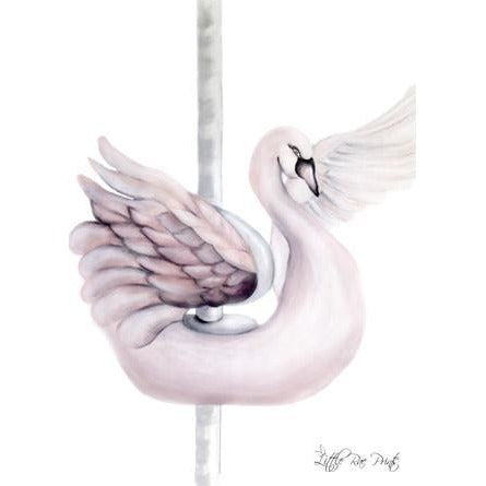 Carousel Swan - Watercolour print