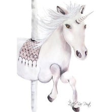 Load image into Gallery viewer, Carousel Unicorn - Watercolour print - Hope & Jade