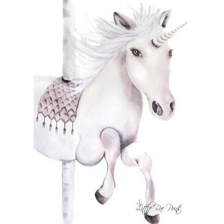 Carousel Unicorn - Watercolour print