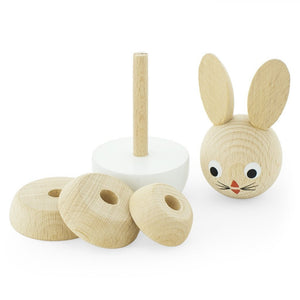 Wooden stacking puzzle - White Bunny - Hope & Jade