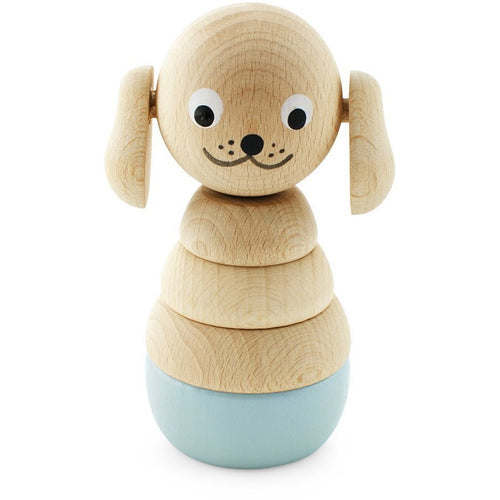 Wooden stacking puzzle - Grey Puppy - Hope & Jade