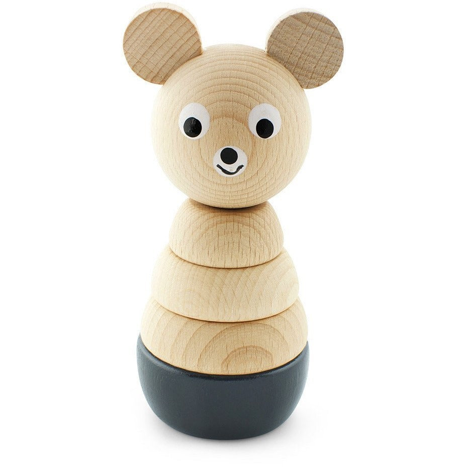 Wooden stacking puzzle - Black Bear - Hope & Jade