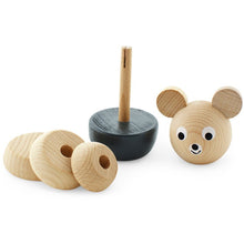 Load image into Gallery viewer, Wooden stacking puzzle - Black Bear - Hope & Jade