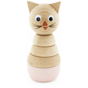Wooden stacking puzzle - Pink Kitty - Hope & Jade