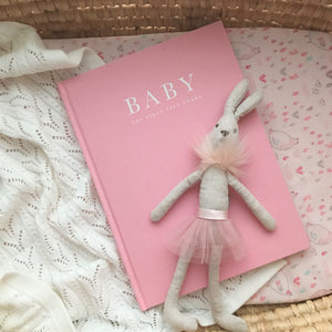 Baby Journal keepsake record book - Birth to five years PINK