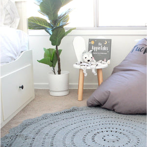 Crochet rug 120cm - Peyton PRE-ORDER MID OCTOBER - Hope & Jade